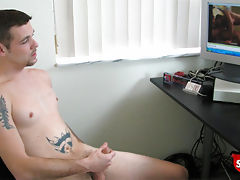 Straight boy jerks off while watching str8 porn.