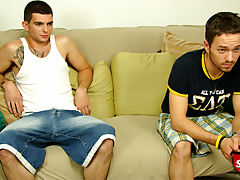 Straight delivery boy gets talked into jerking of with another straight boy for cash